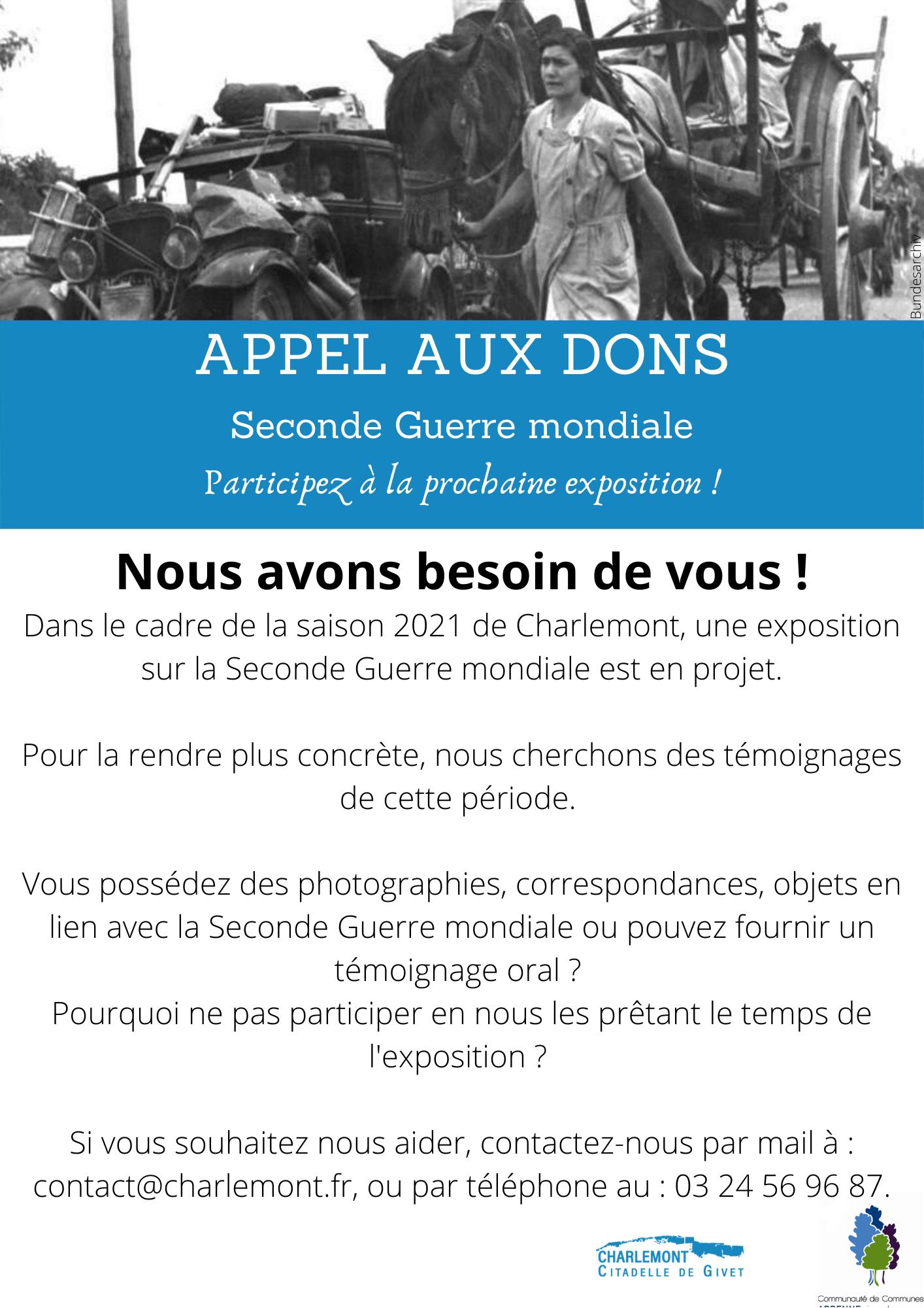 (Français) Appel aux dons